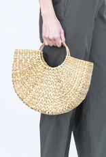 Civil Alchemy Hoop Handle Seagrass Bag