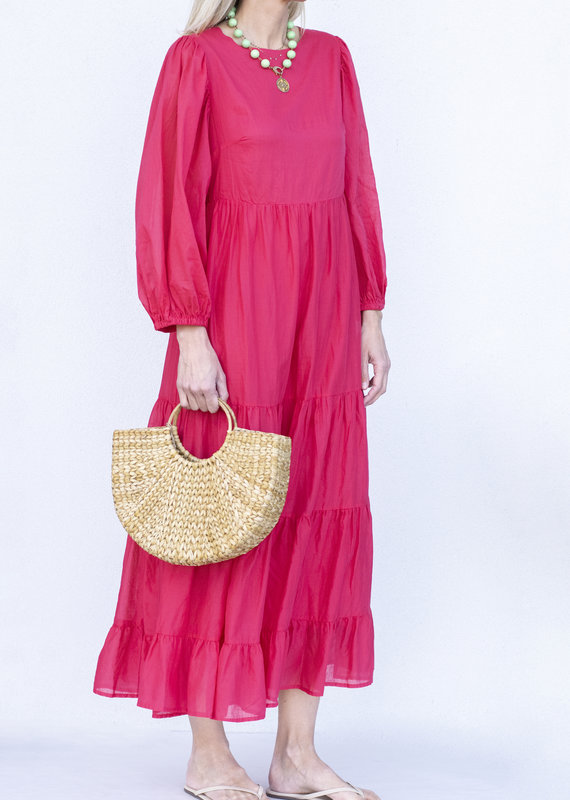 Ottod'ame Ele Dress-Coral
