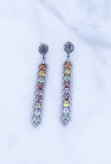 The Woods Fine Jewelry Multicolor Sapphire Statement Earrings