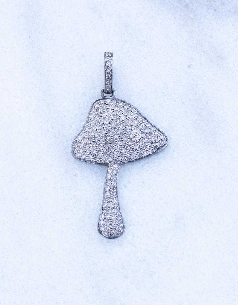 The Woods Fine Jewelry Pave mushroom pendant