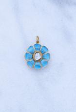 The Woods Fine Jewelry Enamel Flower Charm