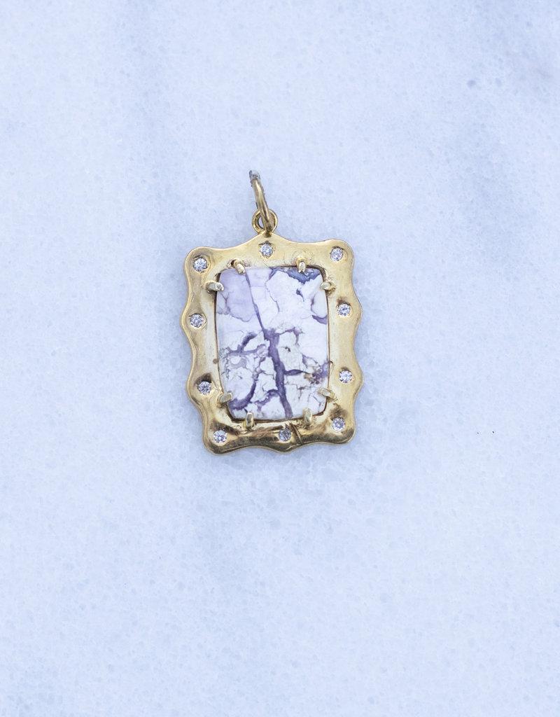 The Woods Fine Jewelry Howlite Charm