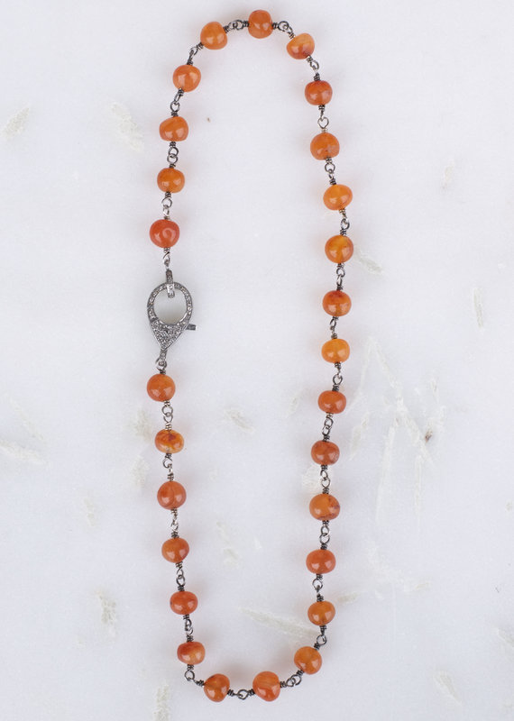 The Woods Fine Jewelry Carnellian Beaded Chain