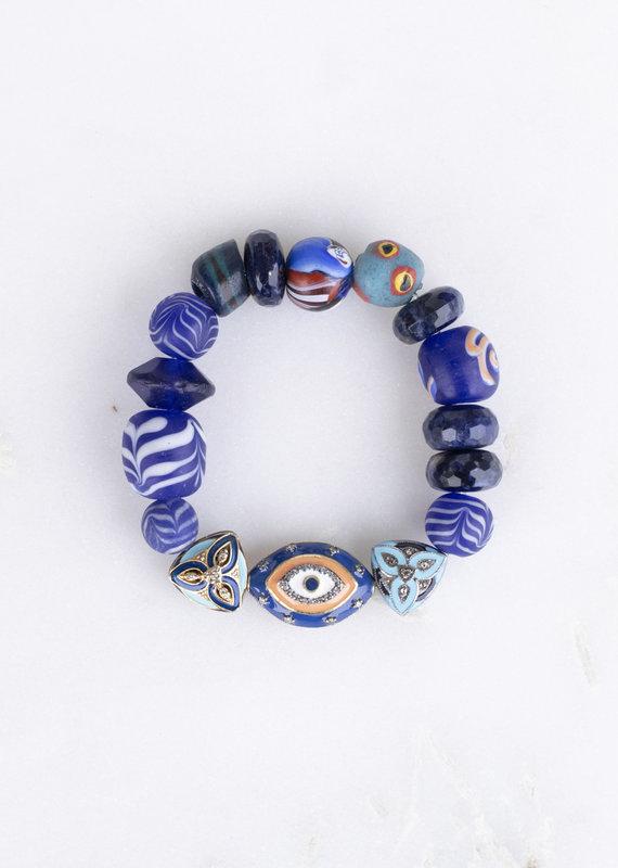 The Woods Fine Jewelry Blue Evil Eye Bracelet