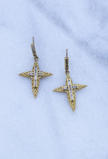 The Woods Fine Jewelry Cross Earrings