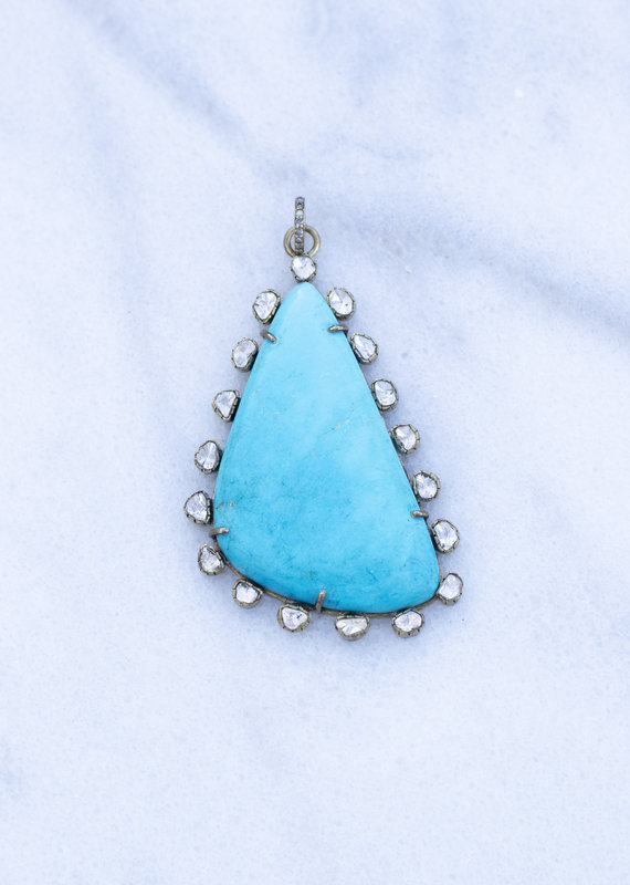 The Woods Fine Jewelry Turquoise Pendant