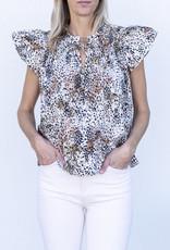 Sea NYC Lana Flutter Sleeve Top