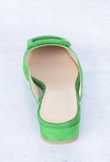 Ann Mashburn Buckle Shoe-Green Suede