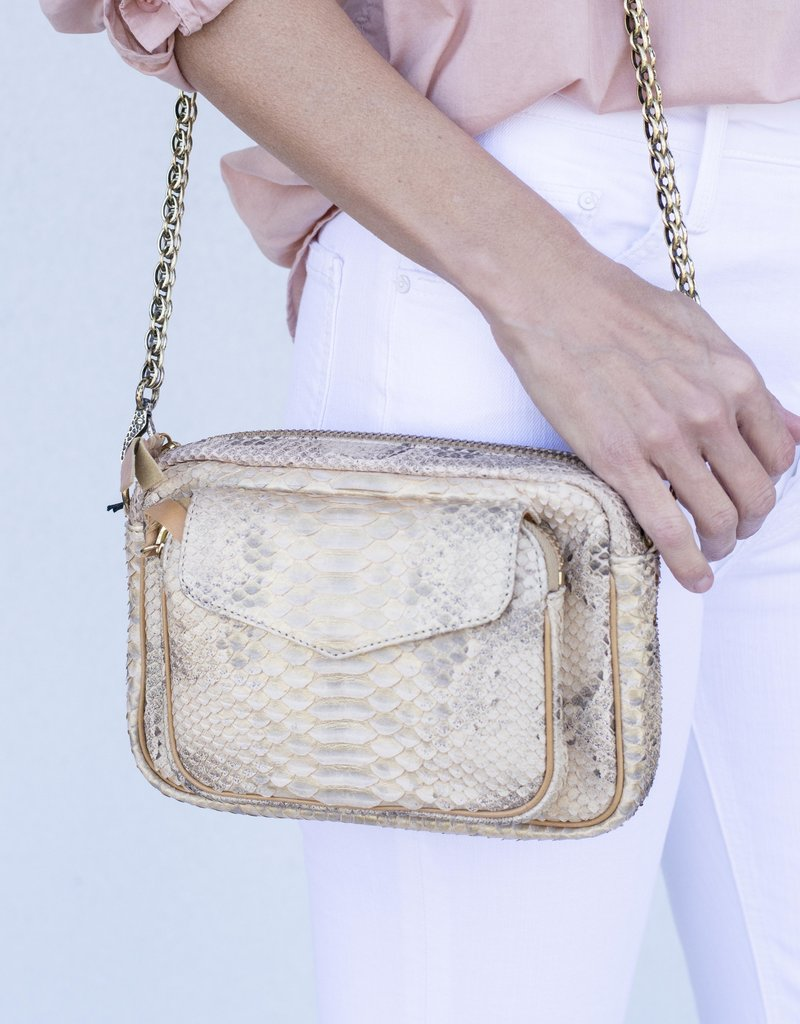 Claris Virot Charly Bag-Champagne