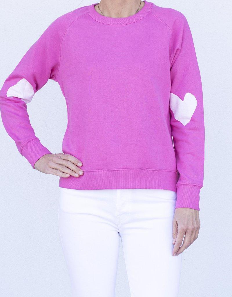 Kerri Rosenthal Pink Heart Sweatshirt