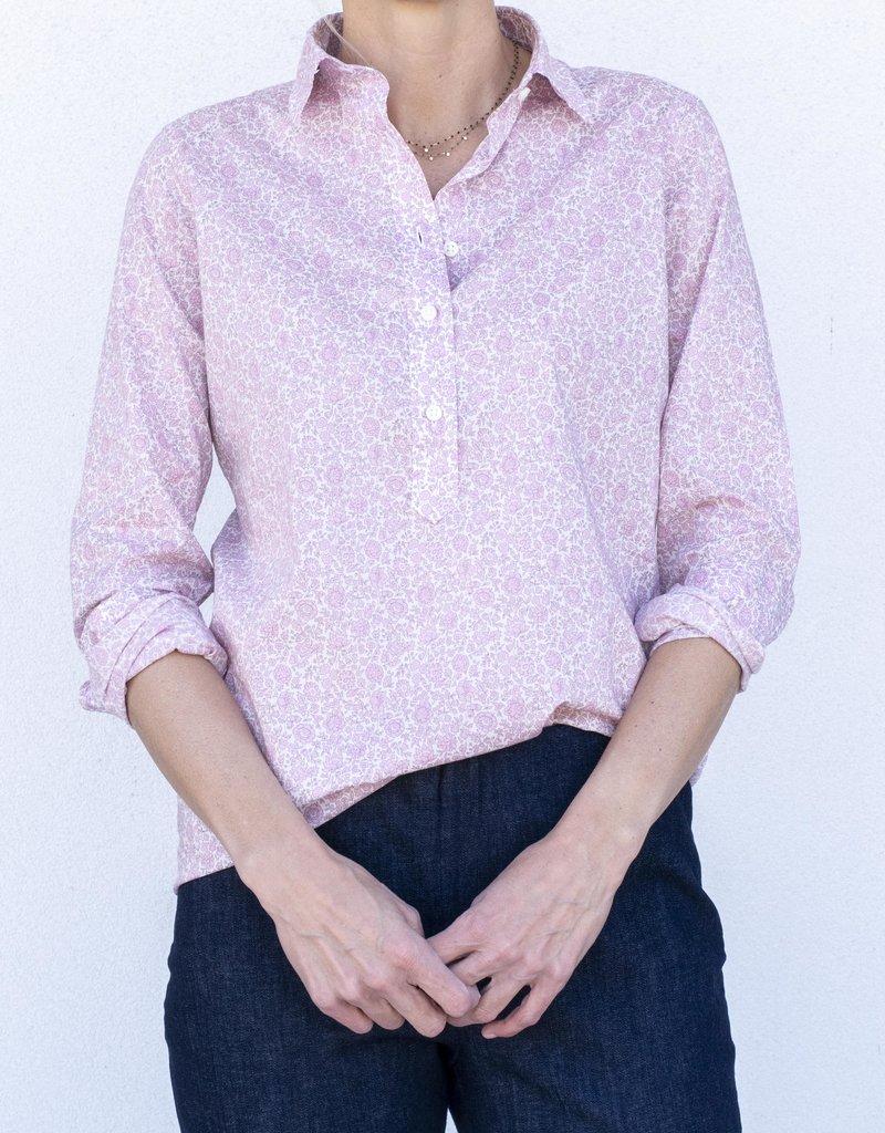 Ann Mashburn Tomboy Blouse-Pink Flowers