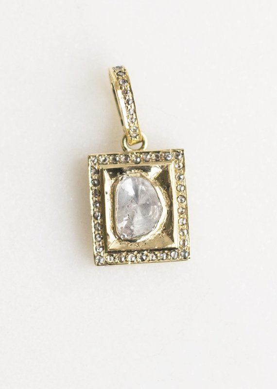 The Woods Fine Jewelry Pave Rectangle Pendant