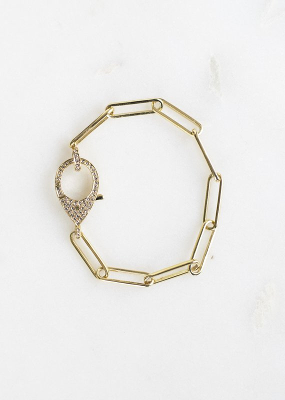 The Woods Fine Jewelry Gold Link Bracelet