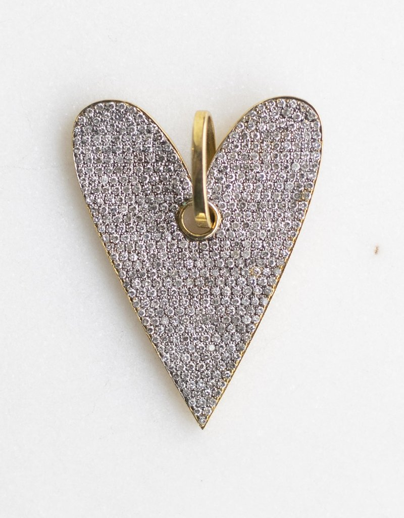The Woods Fine Jewelry Large Diamond Heart Pendant