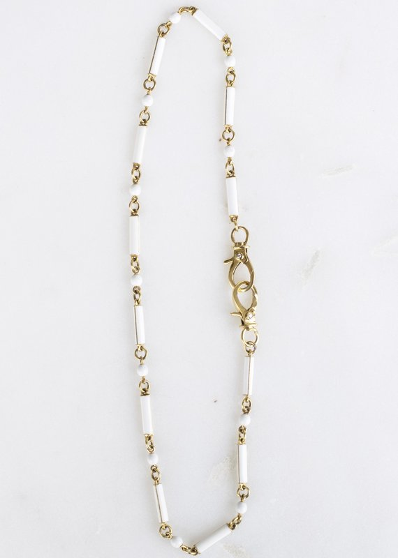 The Woods Fine Jewelry White Enamel Chain