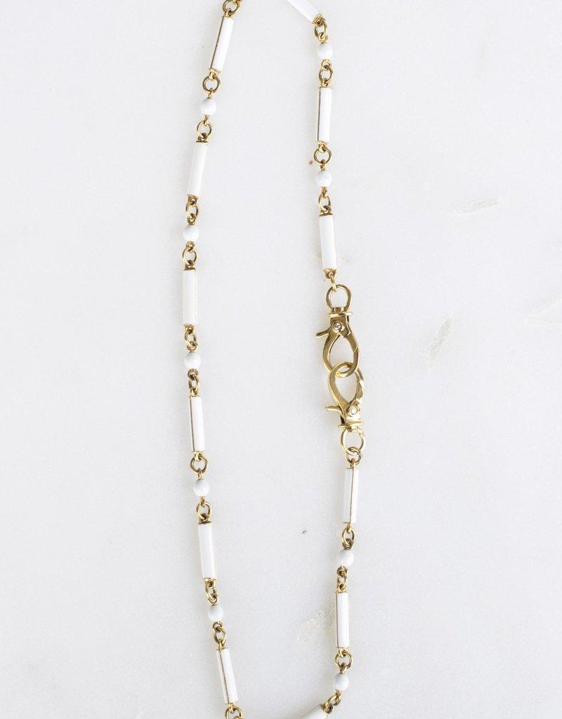 The Woods Fine Jewelry White Enamel Chain