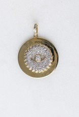The Woods Fine Jewelry Gold and Diamond Evil Eye Disc