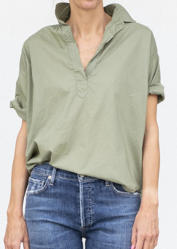 A Shirt Thing Delilah Top-Moss