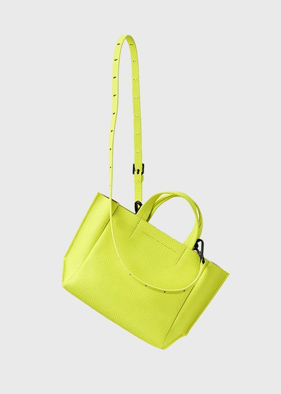Ampersand As Apostrophe Micro Tote-Neon Yellow