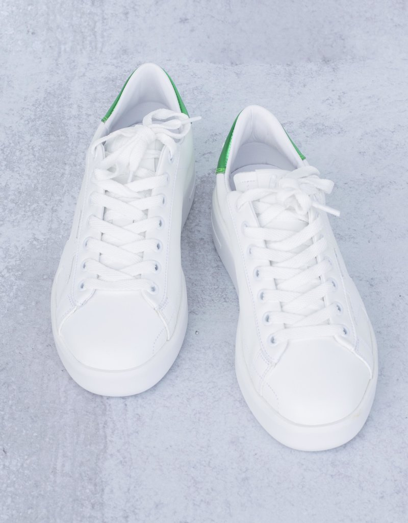 Golden Goose Pure Leather Upper Green Laminated Heel