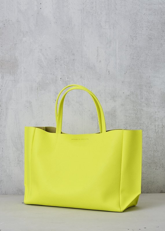 Ampersand As Apostrophe Sideways Tote-Neon Yellow