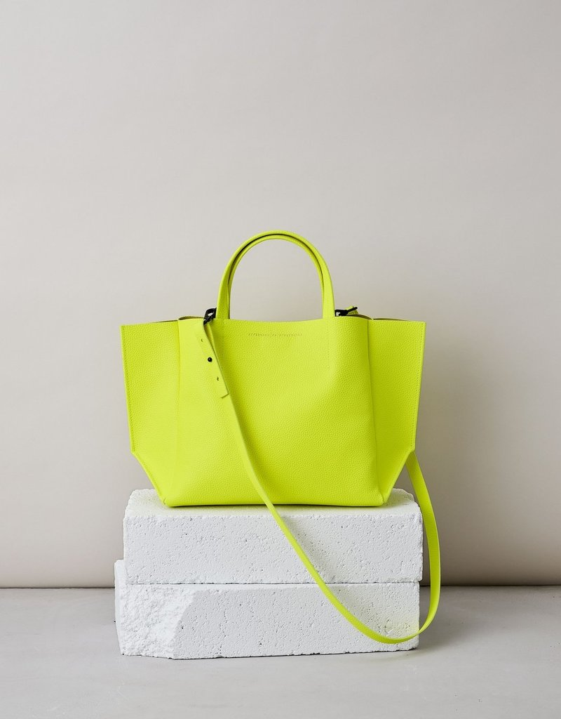 Ampersand As Apostrophe Half Tote-Neon Yellow