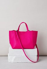 Ampersand As Apostrophe Half Tote-Neon Pink Python