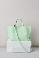 Ampersand As Apostrophe Half Tote-Mint Python