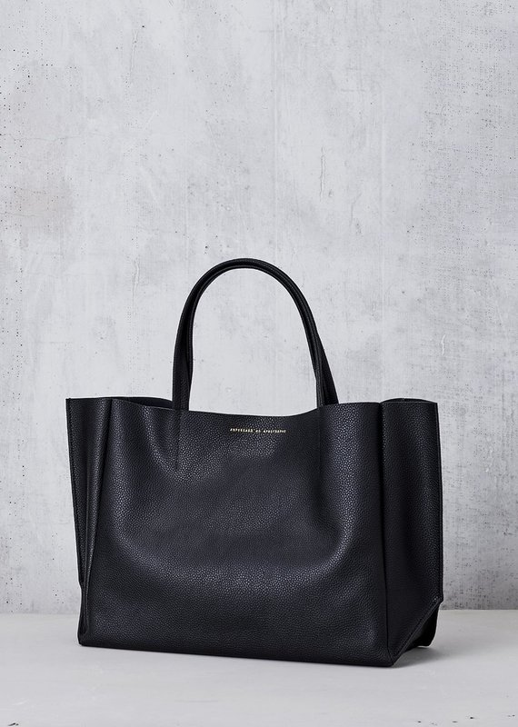 Ampersand As Apostrophe Sideways Tote - Black Lux