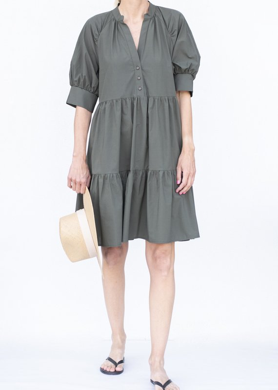 Ottod'ame Shirt Dress-Militare