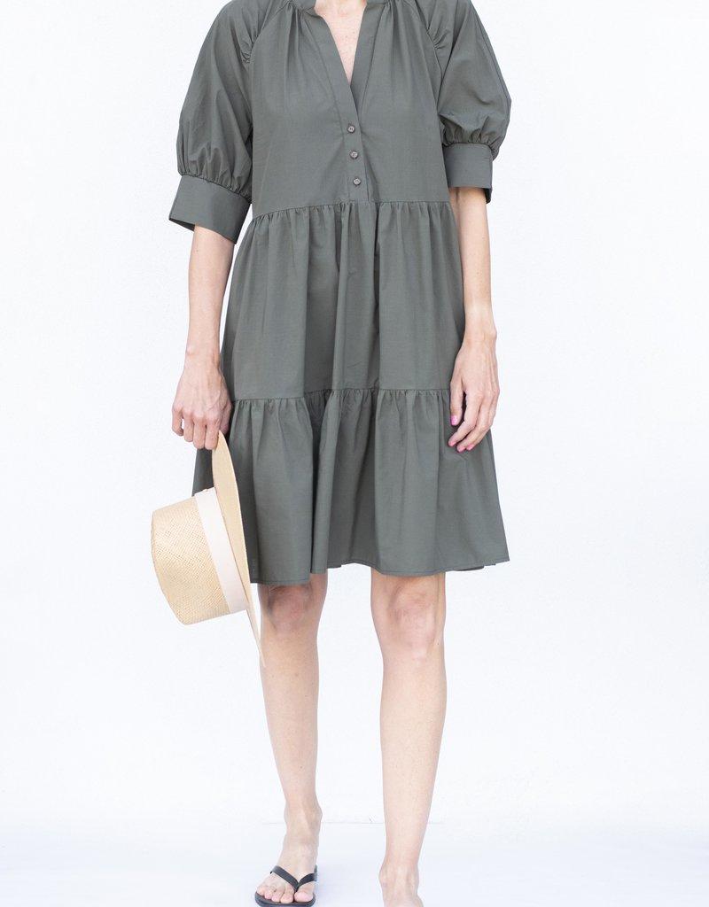 Ottod'ame Shirt Dress-Militare
