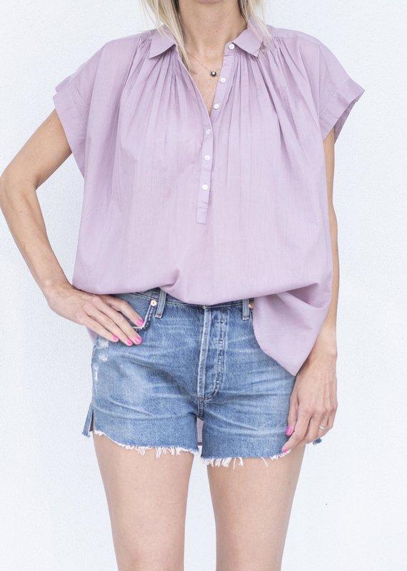Nili Lotan Normandy Blouse-Lilac