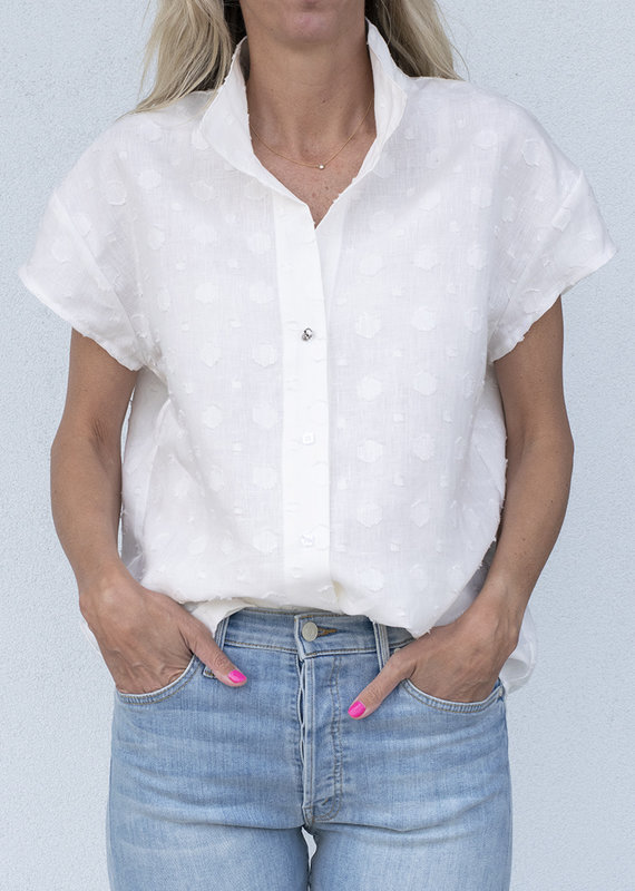 Jag Jewelry and Goods Short Sleeve George-White Linen