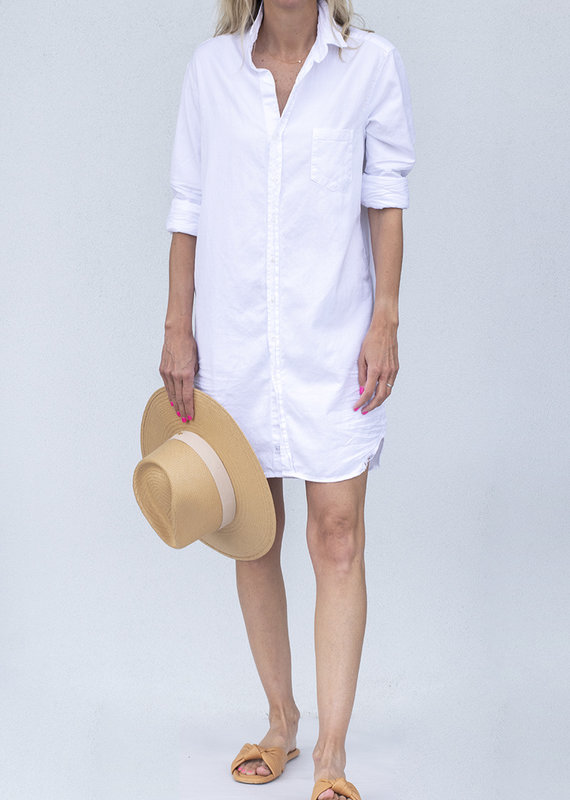 Frank & Eileen Mary Dress-White Tattered Denim