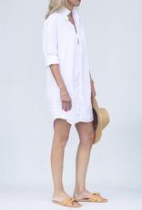Frank & Eileen Mary Dress-White Tattered Denim