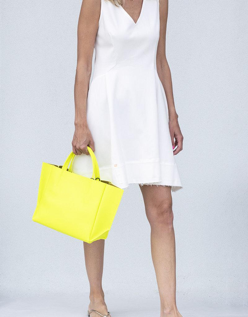 noble 31 Kelsey Dress-White Denim