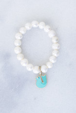 The Woods Fine Jewelry Pearl Bracelet with Enamel Bird Charm