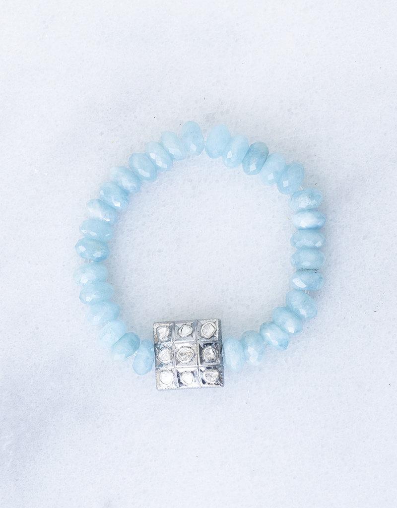 The Woods Fine Jewelry Aquamarine Beaded Bracelet