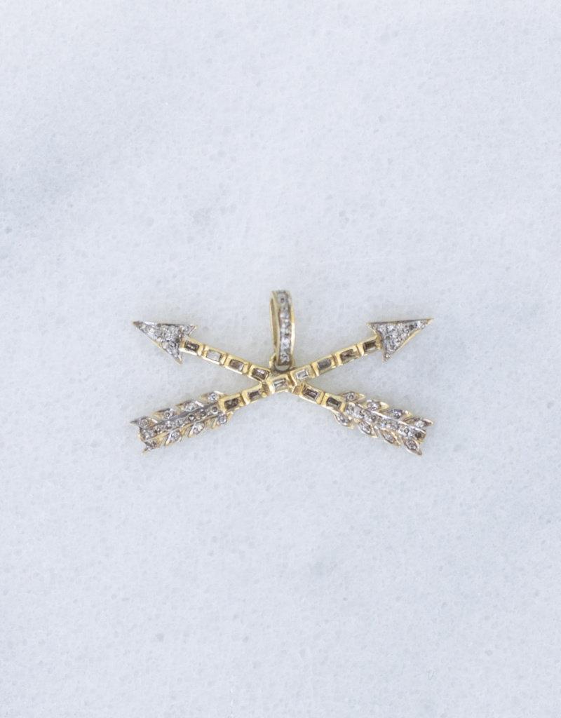 The Woods Fine Jewelry Crossed Arrows Pendant