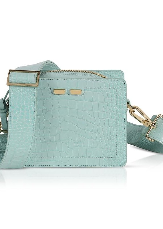 Bene Handbags The Fairfax-Mint Green Gator