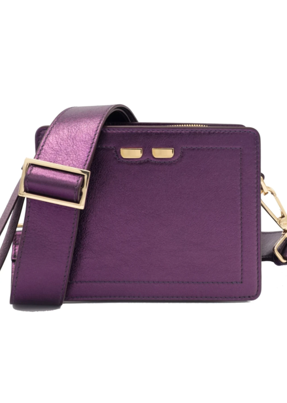 Bene Handbags The Fairfax-Metallic Plum