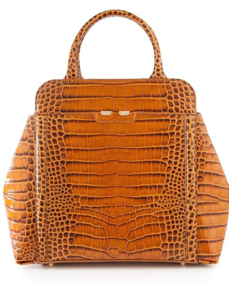 Bene Handbags The Nott-Camel Gator