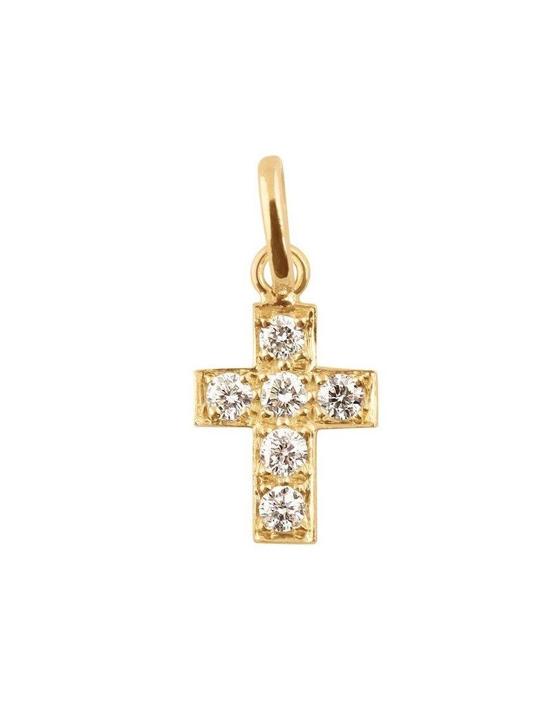 Gigi Clozeau Diamond Cross Pendant