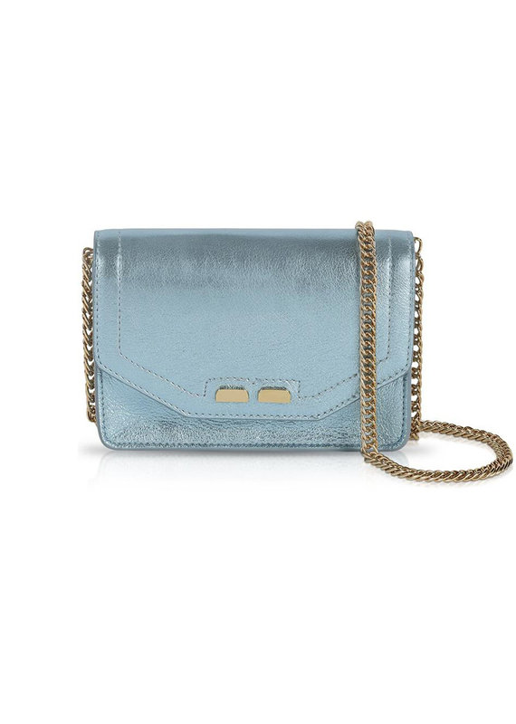 Bene Handbags The Samuel Stadium Bag-Metallic Blue