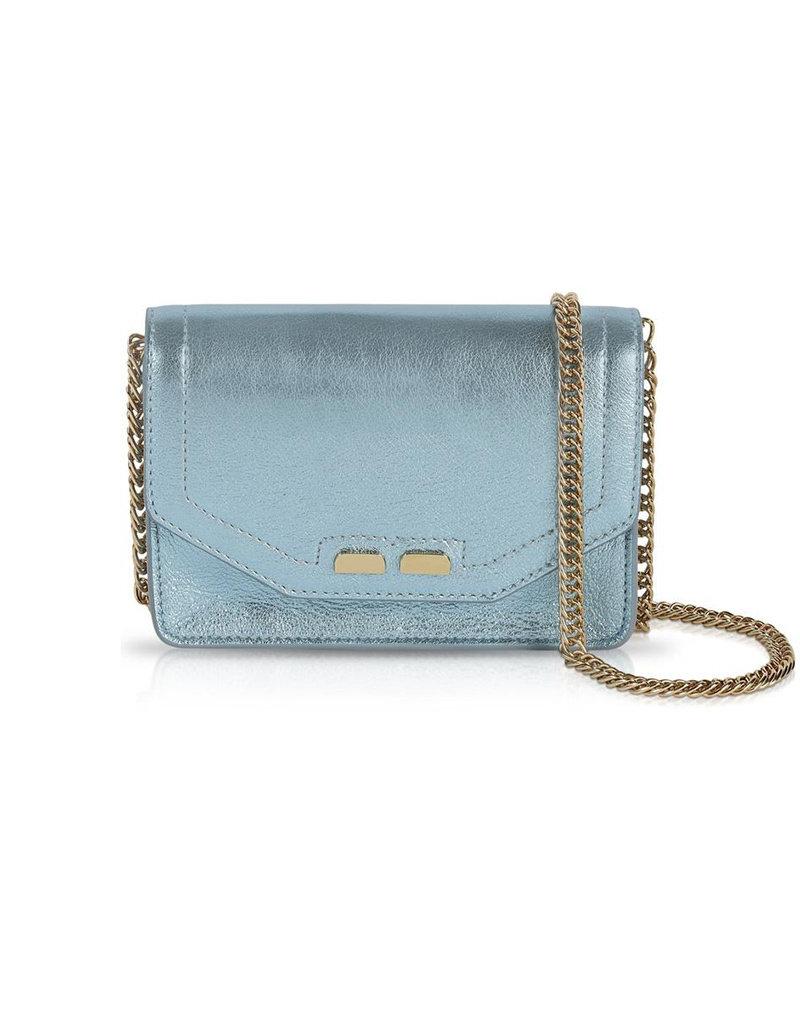 Bene Handbags The Samuel Stadium Bag-Metallic Blue