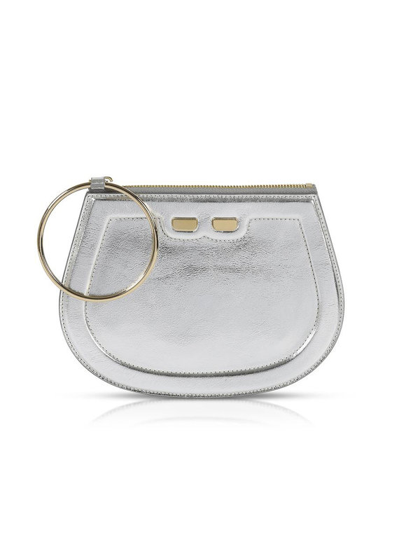 Bene Handbags The Ellie-Metallic Silver