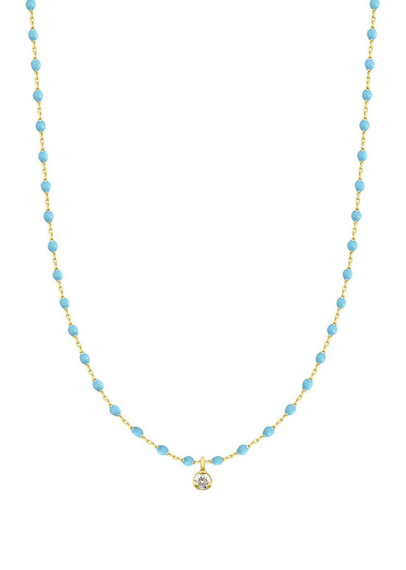 Gigi Clozeau Mini Gigi Necklace Turquoise 1 diamond
