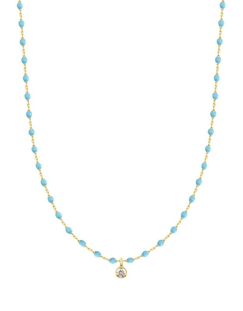 Gigi Clozeau Mini Gigi Necklace Turquoise 1 diamond