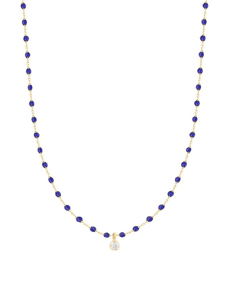 Gigi Clozeau Mini Gigi Necklace with 1 Diamond- Lapis