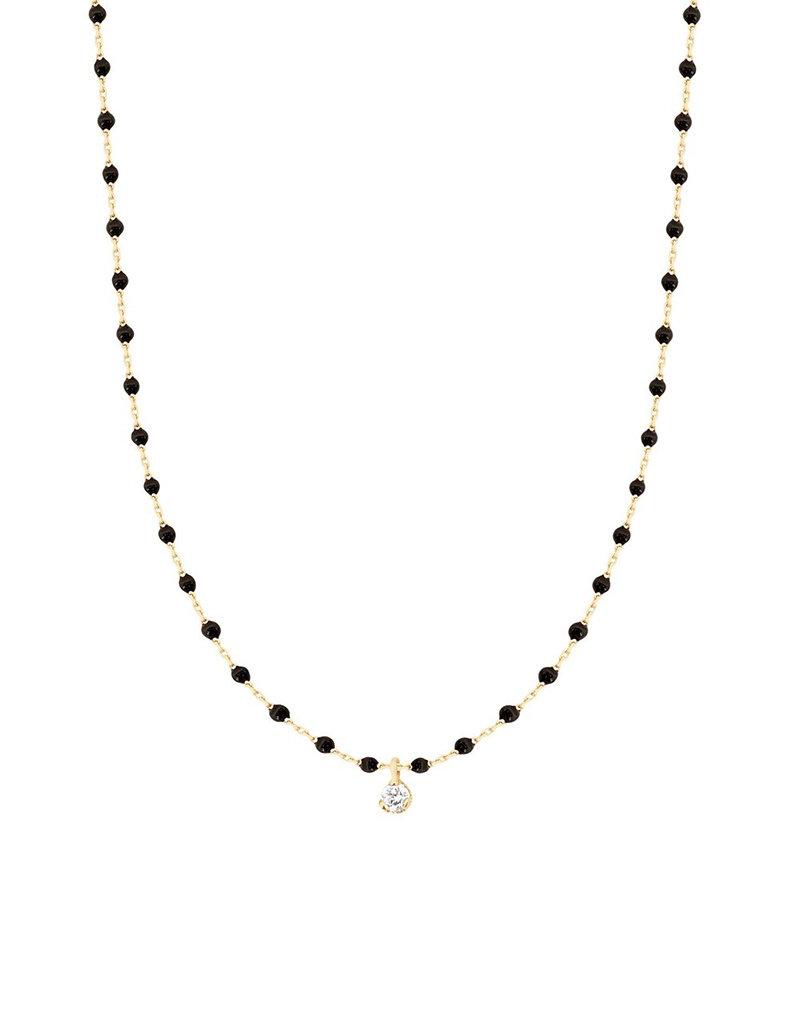 Gigi Clozeau Mini Gigi Necklace Black 1 diamond